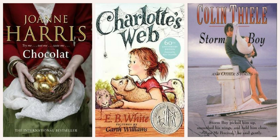 6 Degrees Chocolat, Charlotte's Web, Storm Boy