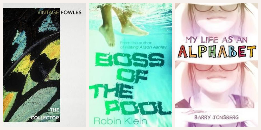 Image of 3 books: The Collector, Boss of the Pool and My Life as an Alphabet