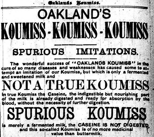 Archival article about Koumiss