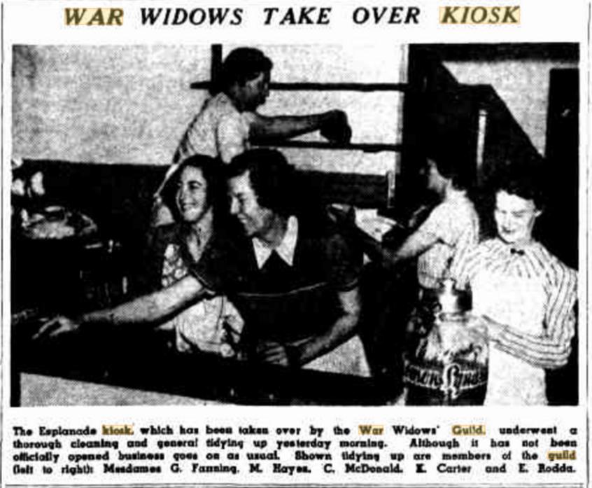 Esplanade Kiosk article Tuesday, 27 September 1949