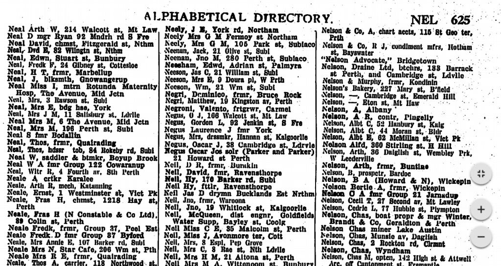 Post Office Directories 1930