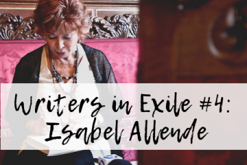 Image of Isabel Allende signing a book