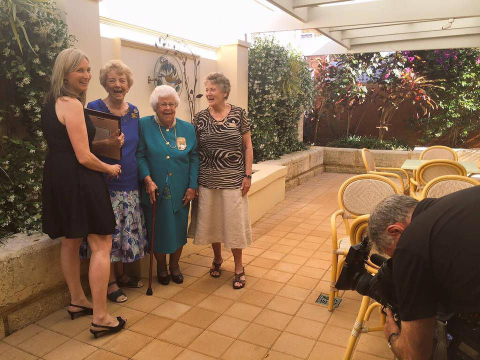 At the launch of Many Hearts One Voice, with war widows