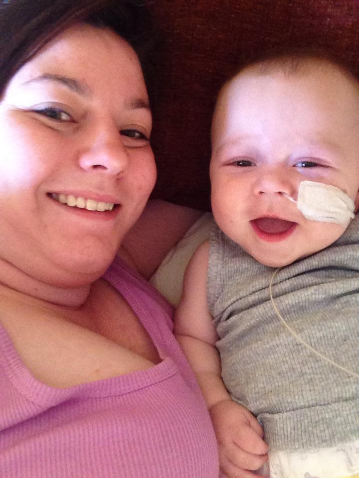 Levi with mum